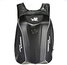 WUYANSE Fibra de Carbono Casco de la Motocicleta Mochila-Moto Mochila Mochila Impermeable de cáscara Dura para Viajar Acampar Ciclismo Bolsa de almacenamiento-30L de Gran Capacidad