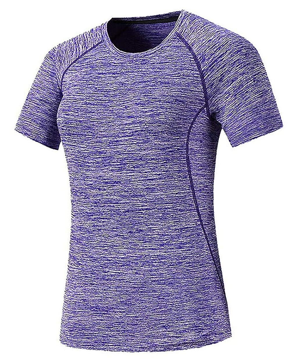 ささやき社会メロディー[ジェームズ?スクエア] レディース 速乾 ドライ Tシャツ スポーツ トレーニング シャツ 半袖