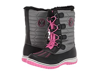 Tundra Boots Kids Alps (Little Kid/Big Kid) (Fuchsia/Grey) Girls Shoes