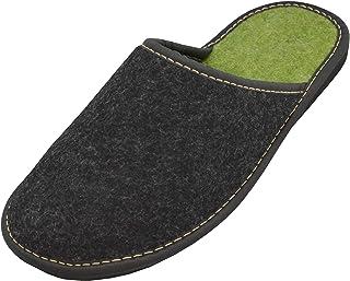 BeComfy - Zapatillas de Fieltro para Hombres Fabricadas con Zapatillas de Fieltro Natural con Suela de Goma Muy Ligeras ma...