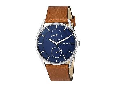 Skagen Holst Multi-Function Watch (SKW6449 Silver Brown Leather) Analog Watches