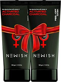 Newish Charcoal Peel off Mask For Men and Women (Pack of 2)