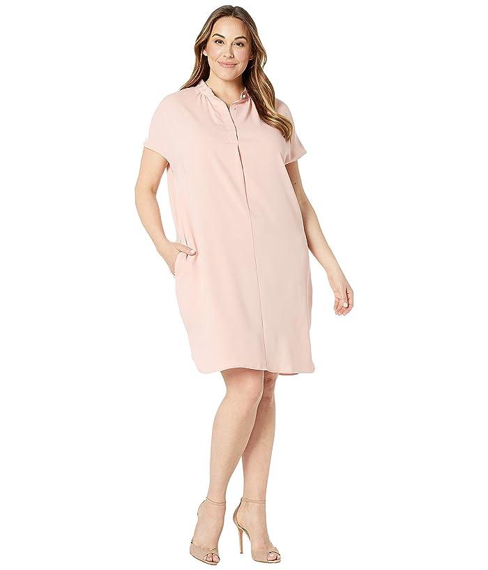 LAUREN Ralph Lauren Plus Size Crepe Shift Dress | 6pm