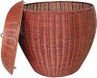 YZQ@CWL Panier à linge sale avec couvercle, grand panier de rangement pour linge sale en rotin de bambou xzcxcvcbvxdsa/Rouge