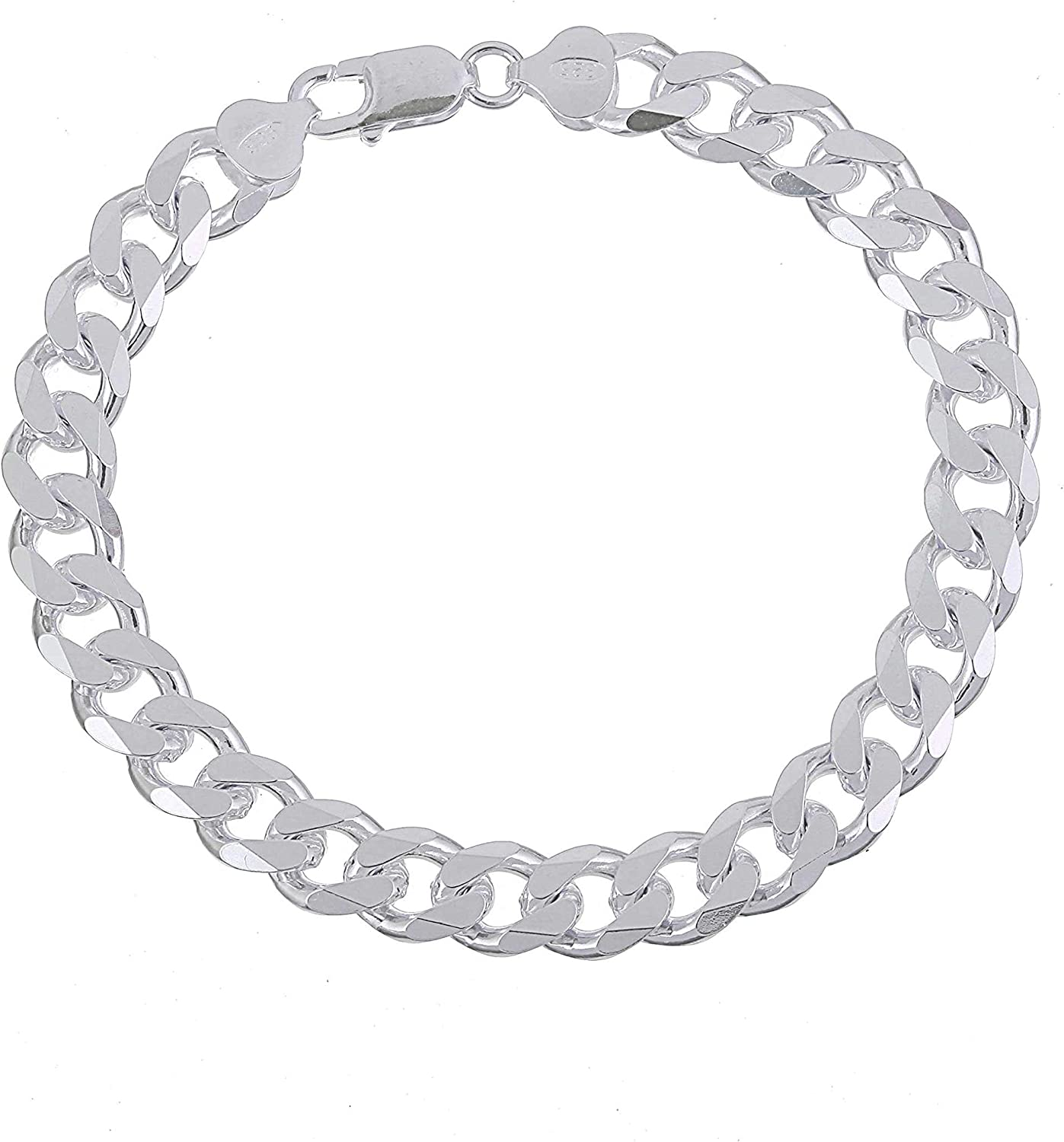 Sterling Inexpensive Silver Heavy 10mm Mens Max 86% OFF Curb Chain Necklace or Brac Link