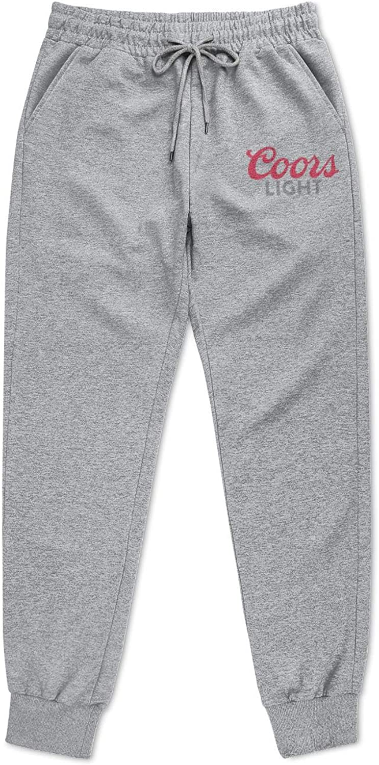 Mens Coors-Light-Logo Sweatpant Cool Sports Pant with Pockets