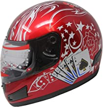 Adult Full Face Sports Motorcycle Helmet DOT 177 Wine Red (M)