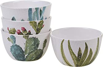 Certified International 22155SET4 Cactus Verde Dinnerware, Tableware, Dishes, One Size, Multicolored