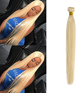 613 Blonde Hair Bundles Weft Unprocessed Brazilian Virgin Human Hair Weave Grade 7A Quality Brazilian Hair Extensions 10-24inch Weave Weft Thick Straight 22