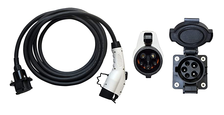 にんじんリング好戦的なEV EVSE PHEV 充電器 延長ケーブル 電気自動車充電器 延長ケーブル レベル2 32A 6.1 メートル SAE J1772電気自動車車の充電器 延長ケーブル