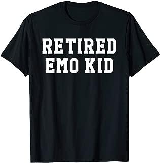Funny Retired Emo Kid Punk Music Joke Meme Gift Shirt