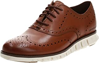 Zerogrand Oxford British Tan mens Wing Shoes