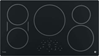 GE PHP9036DJBB 36 Inch Cooktop with 5 Induction, 3,700-Watt Element, Pan Size Sensors, SyncBurners, Red LED Display, Kitchen Timer, ADA Compliant Fits Guarantee