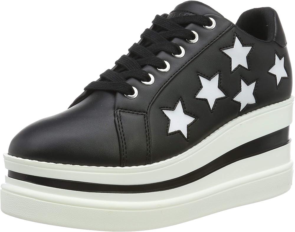 Guess,scarpe sneakers per donna,in pelle FL7KRAELE12