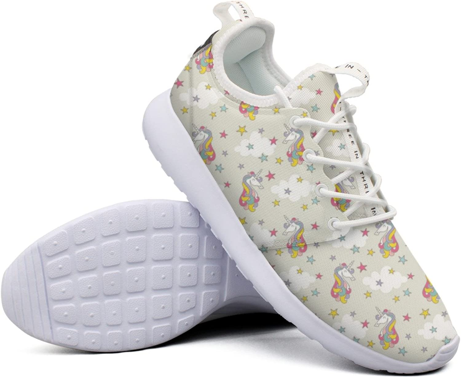 Womens Cute Unicorn colorful Net Cool Sports Running shoes