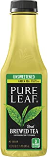 Pure Leaf Iced Tea, Unsweetened Green Tea, 18.5 Oz Bottles (12 Pack)