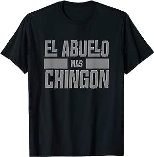 Mens El Abuelo Mas Chingon Spanish Grandpa T Shirt