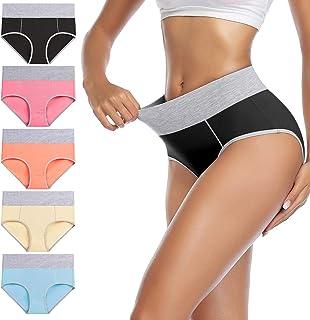 Women's Cotton Underwear High Waist Stretch Briefs Soft...