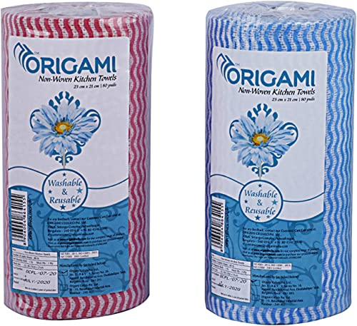 Origami So Soft Non-Woven Kitchen Towels - 80 Pulls (Pack of 2)