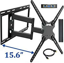 "JUSTSTONE Full Motion TV Wall Mount Bracket for 28-70 Inch LED LCD Plasma Flat Screen & Curved TVs 110 Lbs VESA 600x400mm with Articulating Arms, Extend, Swivel, Tilt and Level Adjust, Fit 16"" Studs"