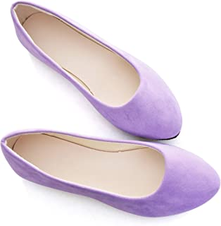 Purple / Flats / Shoes: Clothing, Shoes