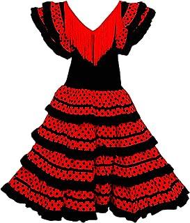 Vestido Flamenco Disfraz Sevillana, Traje de Andaluza la Se