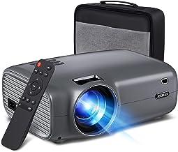 "JEEMAK Proyector, Mini Videoproyector de 6000 Lúmenes con 1080P Full HD, Pantalla de 200 ""y Proyector de Cine en Casa de 6..."