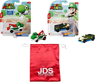 JDS Toy Store Super Mario Character Car Green Bundle with Carrying Bag
