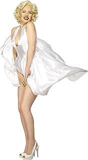 Smiffy'S 27428S Disfraz Classic De Marilyn Monroe Con Vestido Sin Espalda, Blanco, S - Eu Tamaño 36-38