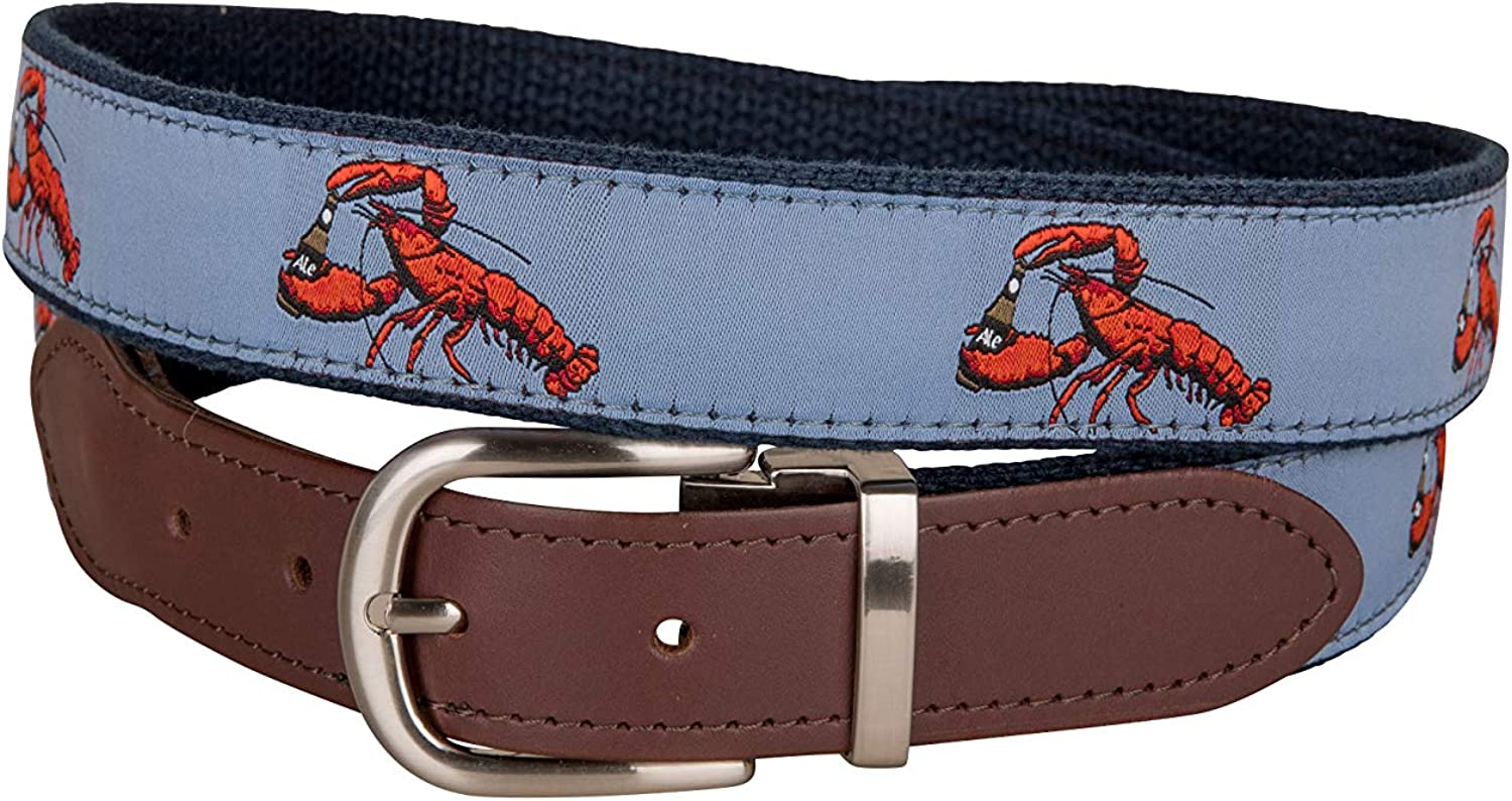 Lobster Ales Cut-to-Size 引出物 Leather Tab Belt Compan by Cow Belted 低価格化