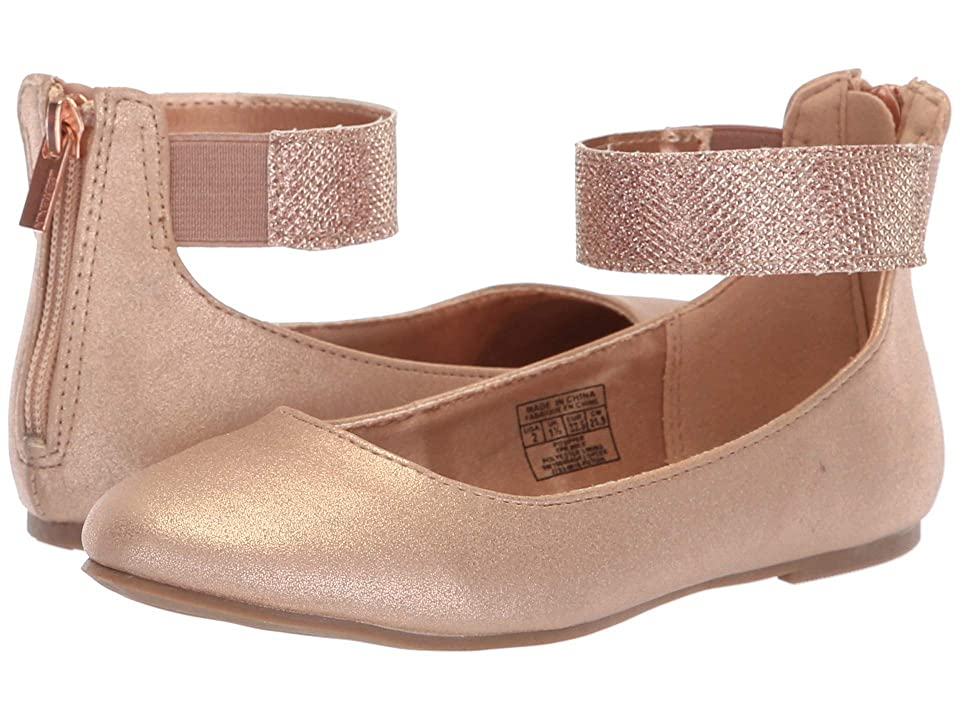 Nine West Kids Floycee (Little Kid/Big Kid) (Rose Gold Shimmer/Glitter Ankle Wrap) Girls Shoes