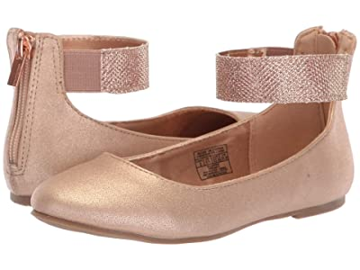 Nine West Kids Floycee (Little Kid/Big Kid) (Rose Gold Shimmer/Glitter Ankle Wrap) Girls Shoes