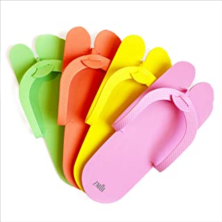 12 Pairs Eva Disposable Pedicure Slippers Anti-Slip Party Pack ZMOI Collection