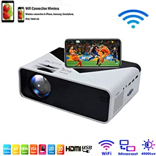 SOTEFE® WiFi Mini Projector Portable 4500 Lumens -WiFi Video Projector 1080P Full HD for iPhone Samsung Smartphone Wireles...