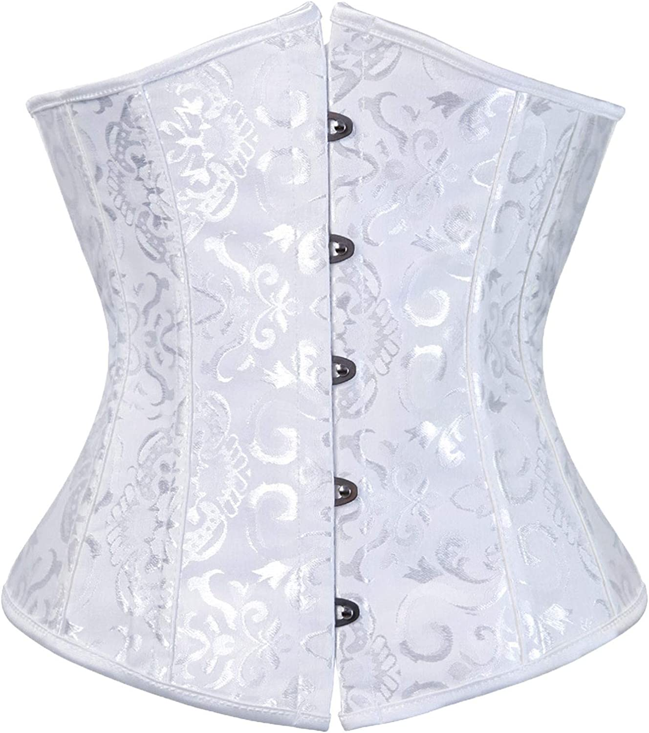 Women's Bustiers Corset Top Plus Size Sexy Corsets Solid Color Tank Top G-String Outfit Body Shapewear Gothic Jacquard Tank