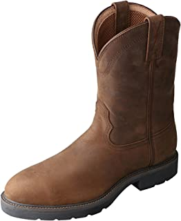Twisted X Men's Distressed Pull-On Work Boot Round Toe - Mwp0001