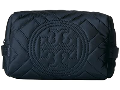 Tory Burch Fleming Quilted Nylon Cosmetic Case (Royal Navy) Cosmetic Case