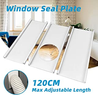 "Jeacent Portable Air Conditioner Window Seal Plates Kit, Plastic AC Vent Kit for Sliding Glass Doors and Windows, Adjustable Length Panels for Exhaust Hose of 6"" Diameter"
