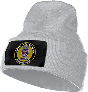 United States Veteran Army 10th Mountain Division Knitted Beanie Warm Winter Hats