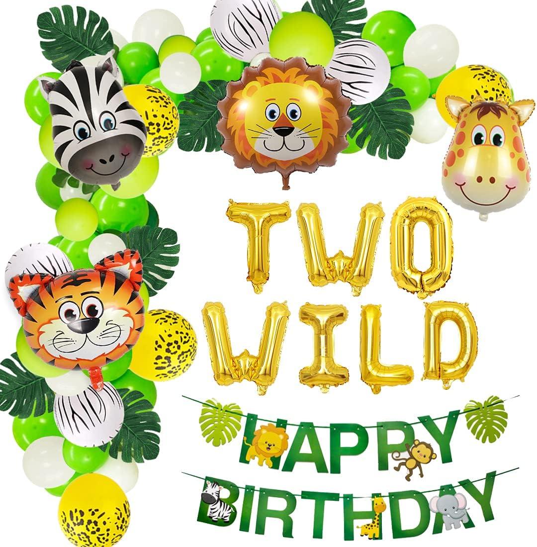 Buy Jungle Theme 20nd Birthday Party Supplies Safari Balloons ...
