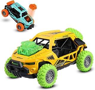 JAMSWALL Lot de 2 voitures pour enfants avec son et lumière à tirer, corps en alliage d'aluminium, véhicule tout-terrain, ...