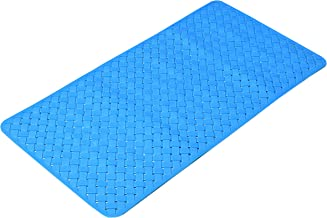 Yellow Weaves Modern Shower Mat with Anti Slip Suction Cup (Blue, PVC, 38 x 78 cm)