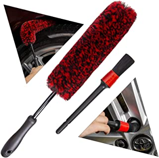 برس های پشمالوی چرخ - برس مصنوعی پشم لاستیک ، وولی ، نرم ، الیاف متراکم ، چرخ های تمیز با ایمنی دسته
