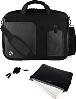 Vangoddy DF_000001076 Pindar Universal Laptop Messenger Bag with Neoprene sleeve and Headphone Splitter Bundle Package, 13...