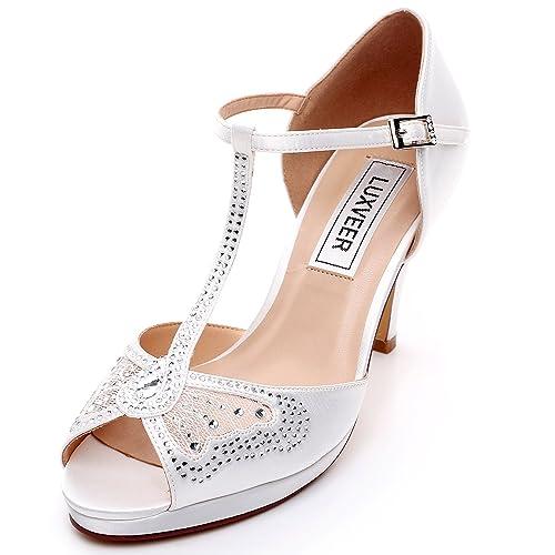 3 1 2 Inch Bridal Shoes Amazon Com