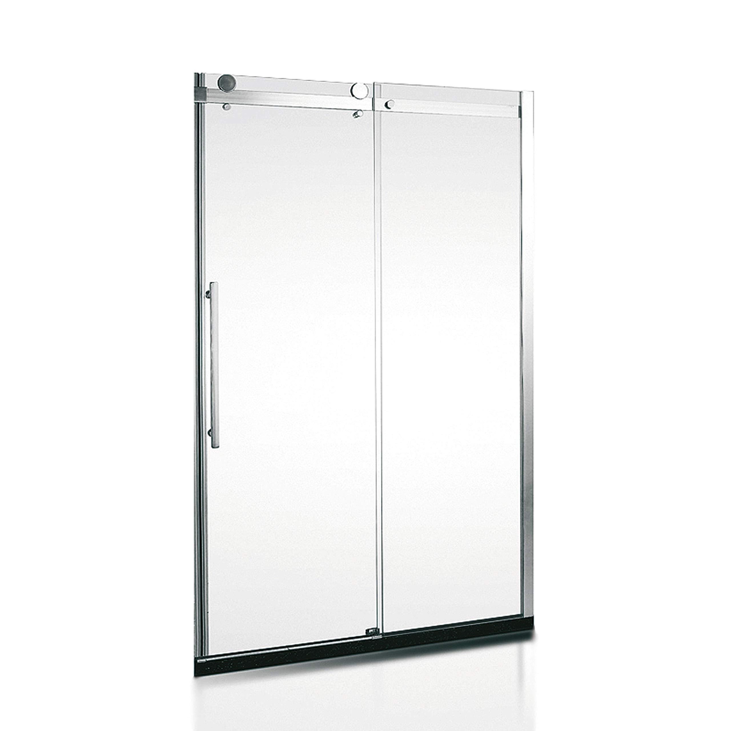 Mampara de Ducha Frontal MIRAGE. Con Rodamientos en Acero Inoxidable. Cristal Transparente. (140x190 cm): Amazon.es: Bricolaje y herramientas
