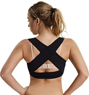 Posture Corrector Shapewear for Women Back Support Bra Chest Brace Up Corset X Strap Vest