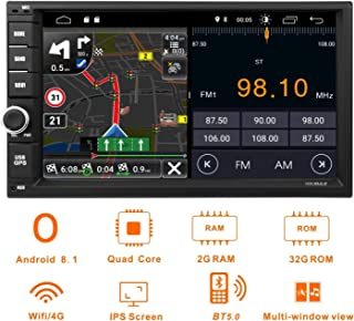 Android 8.1 Double Din Car Stereo,Car Radio Audio,Vicmax 7Inch Touch Screen Android Auto,Quad-Core, 2GB RAM 32 ROM,GPS Navigation Support Fastboot/Bluetooth/WiFi/3G/4G/USB/SD/DVR/CAM-IN
