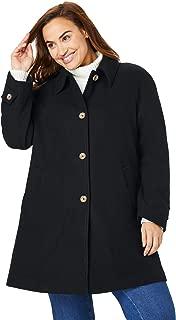 Women's Plus Size Wool-Blend Classic A-Line Coat