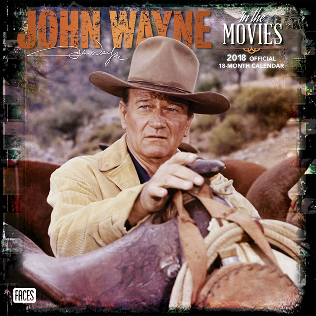 不運泣き叫ぶコールドJohn Wayne in the Movies 2018 Calendar